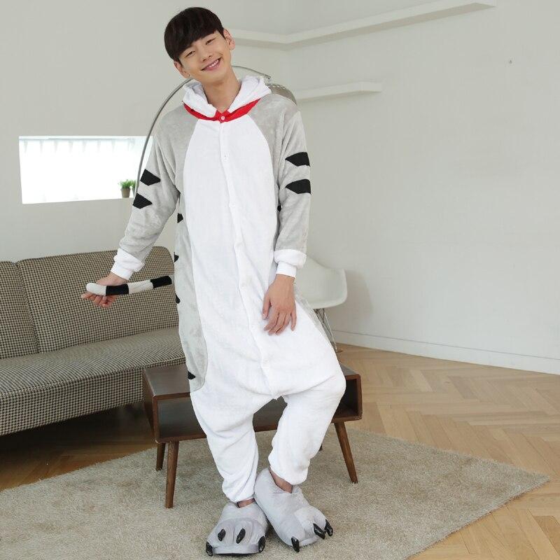 Kawaii Flannel Pijama kigurumi For men Minion Panda Tiger Giraffe Onesie Adult Sleepwear Couple Pyjamas Halloween Party Jumpsuit (5)