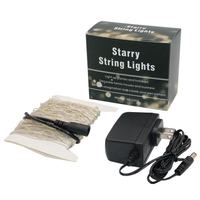 5x10M 100 DC12V varmvitt silver koppartråd mikrostrålkastare - Festlig belysning - Foto 5
