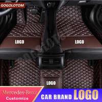 Alfombrilla de coche personalizada, forro trasero delantero para Mercedes Benz, todo modelo Clase C Cla Amg W212 W245 Glk Gla Gle Gl X164 Vito W639 S600
