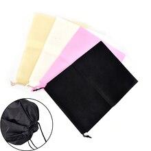 2PCS  Non-woven Portable Shoes Bag Travel Storage Pouch Drawstring Dust Bags