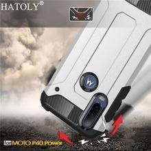For Motorola Moto P40 Power Case Silicon Rubber Armor Shell Hard Phone Cover