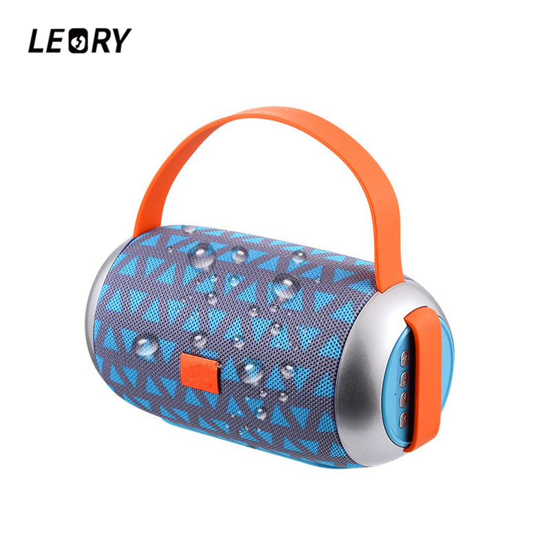LEORY New Arrival Portable Speaker Wireless Bluetooth Outdoor Speaker 1200mah Waterproof Stereo Music Speaker FM Radio TF outdoor portable bluetooth speaker wireless waterproof bass loud speaker 3d hifi stereo subwoofer support tf card fm radio