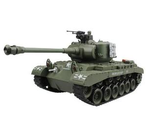 RC Tank US M26 15 Channel 1/20 Pershing Snow Leopard Main Battle Tank Model With Shoot Bullet Hobby Toys