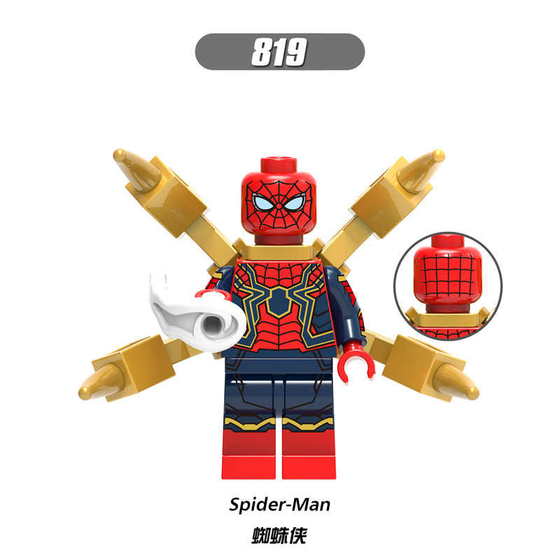 X0186 LegoINGly Marvel Ant Avengers Captain Super Hero Iron Man Hulk Black Panther Man Wasp Building Blocks Toy For Children Set