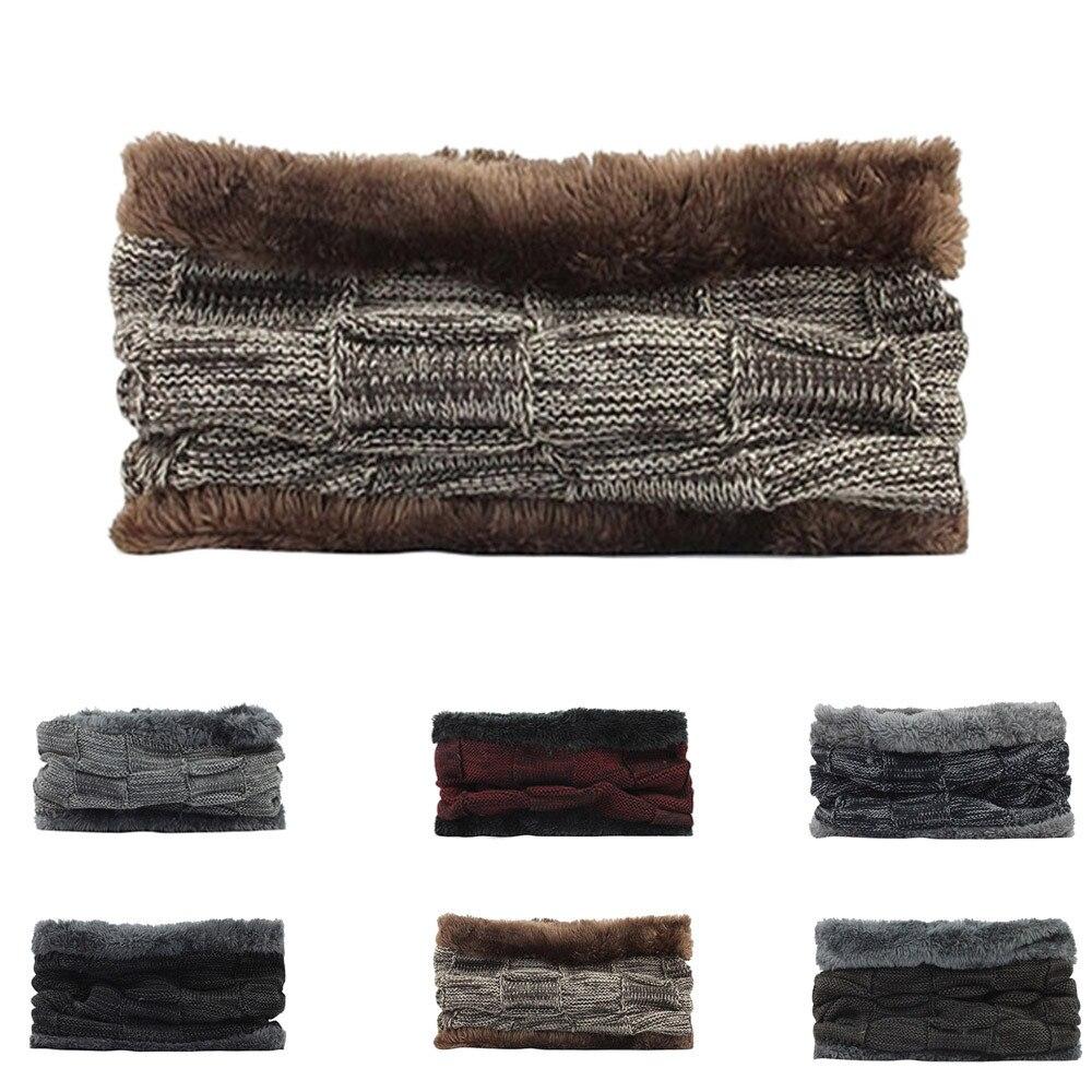 Hats Scarfs Snood Neck-Warmer Fleece Winter Fashion Women Unisex Casual Autumn HX0115