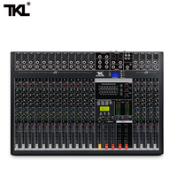 TKL 16 channel professional audio mixer with USB DJ sound mixing console Bluetooth AUX recording stage equipment