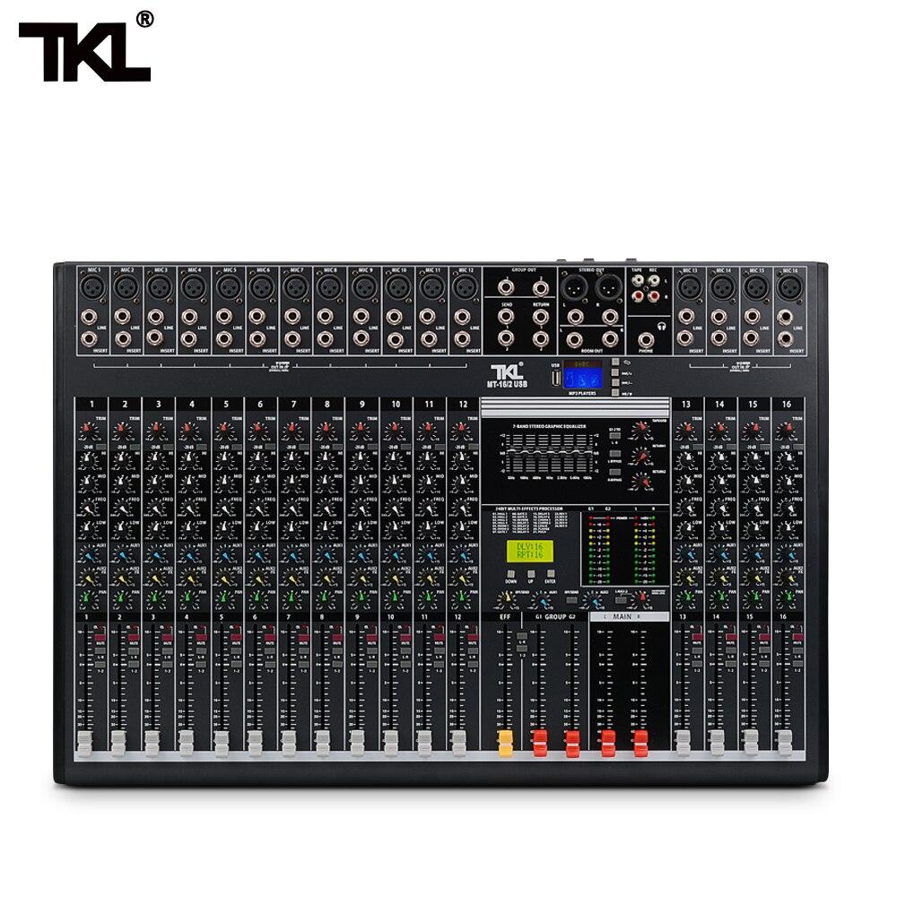 TKL 16-kanal professional audio mixer mit USB DJ sound mischpult Bluetooth AUX aufnahme bühne ausrüstung