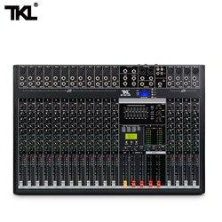 Tkl 16-channel professional audio mixer com usb dj som mixing console bluetooth aux equipamento de gravação de palco