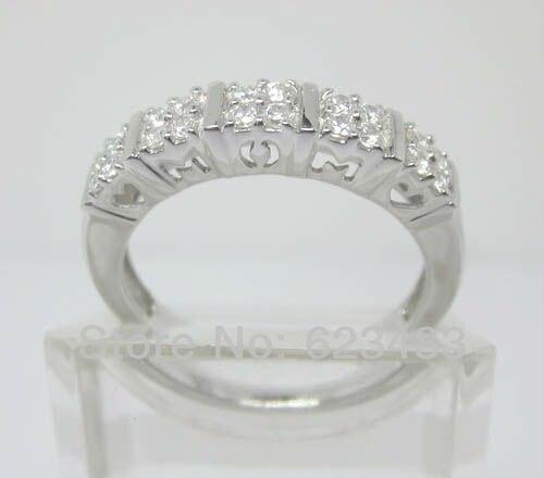 14k Solid White Gold Natural Diamond Semi-Mount Ring14k Solid White Gold Natural Diamond Semi-Mount Ring