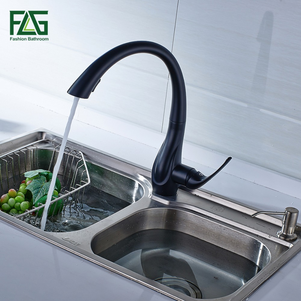 Spring Style White Kitchen Faucet Pull Out Brass Sprayer Swivel