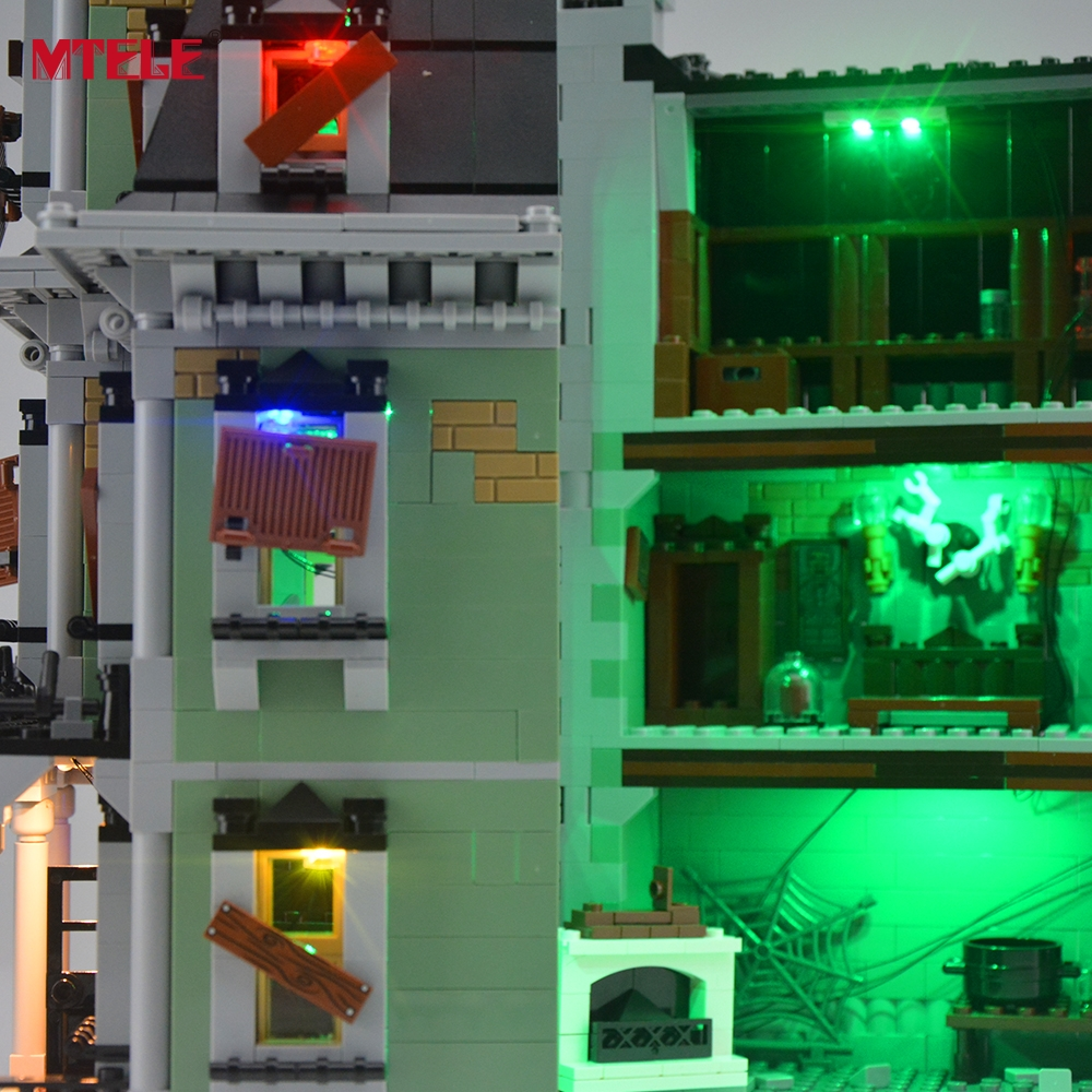 MTELE Brand LED Light Up Kit Untuk City Monster Fighter Haunted House - Mainan pembinaan - Foto 5