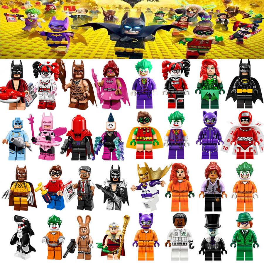 لفيلم باتمان تجميد السم Lvy هارلي كوين جوكر التقويم رجل جوكر باربرا غوردون أرقام ألعاب مكعبات البناء