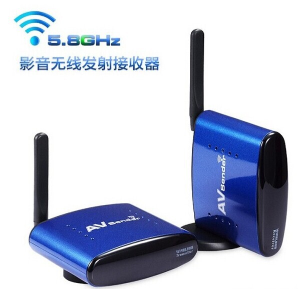New 5.8GHz Wireless AV Audio Video Sender Transmitter Receiver 200M PAT630 4 channel 5 8g wireless av transmitter and receiver a v audio video sender 200m tv signal receiver rca transmitter