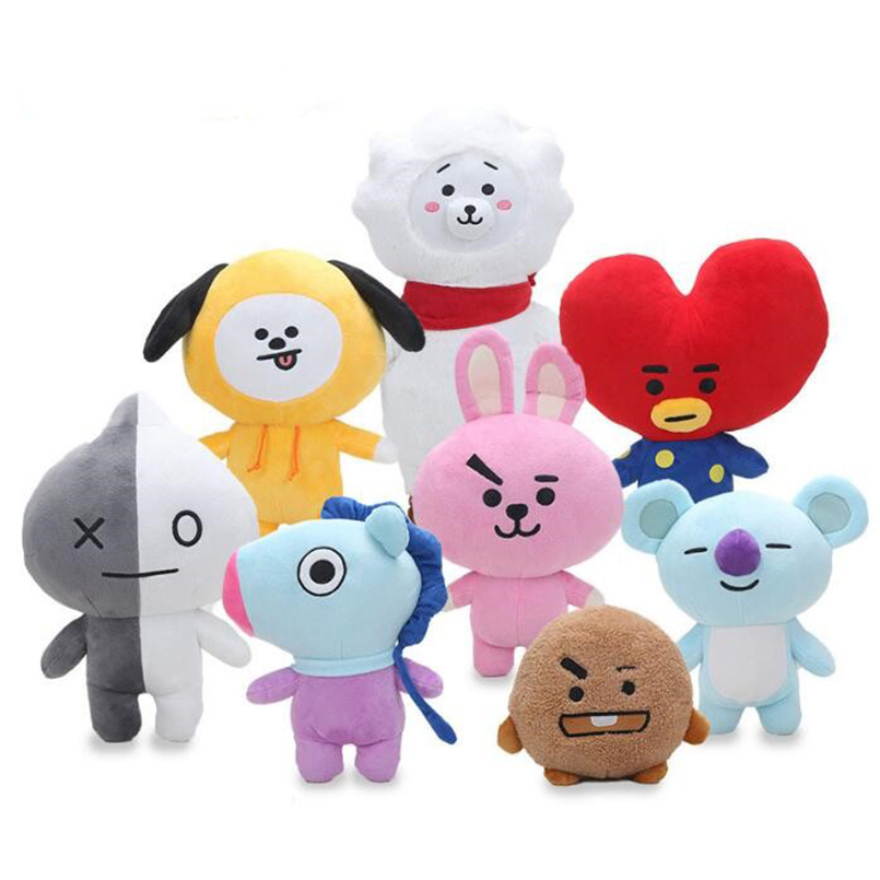 Temperate Bt21 Plush Doll Toy Pillow Peluche Toy Kpop Doll Bangtan Bts Bt21 Sofa Home Decor Cushion Soft Toy Children Girl Birthday Gift Removing Obstruction Dolls & Stuffed Toys