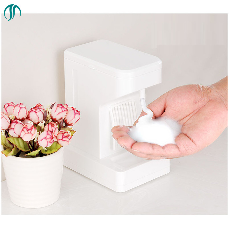 500ML Stand Foam Dispenser Automatic Soap Dispenser Soap Save White Smart Countertop Dispensers Automatic Foaming Dispensers kitpag47436wns101 value kit procter amp gamble professional foam hand soap dispenser pag47436 and windsoft 101 bleached white embossed c fold paper towels wns101