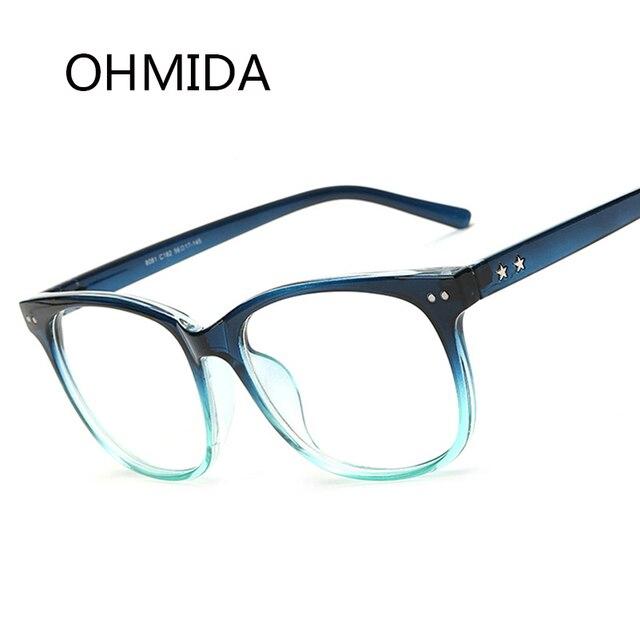 a8f933ca1d1907 OHMIDA Nouvelle Mode Plaine Miroir Lunettes Hommes Femmes Eyewears Noir  Ultra-Léger Myopie Prescription Rétro