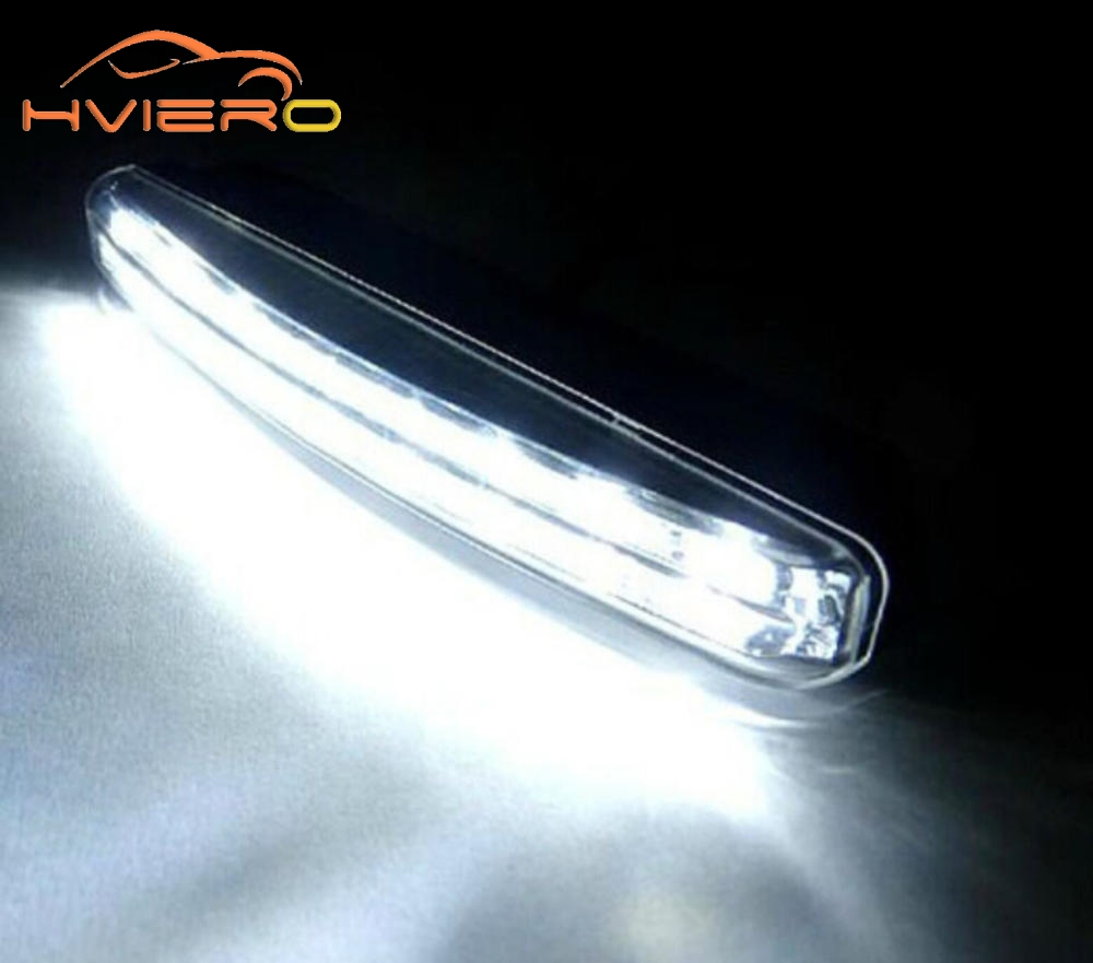 1Pcs Car Daytime Running Light 8LED DRL White DC 12V Head Lamp Parking Fog Lamp Waterproof Light Car Styling Accessories bulb new arrival a pair 10w pure white 5630 3 smd led eagle eye lamp car back up daytime running fog light bulb 120lumen 18mm dc12v