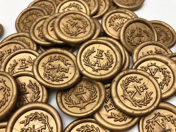 Custom Wedding  Self Adhesive Wax Stickers, Custom Wax Seals, Wedding Wax Seals, Invitation Seals, RSVP Wax Seals