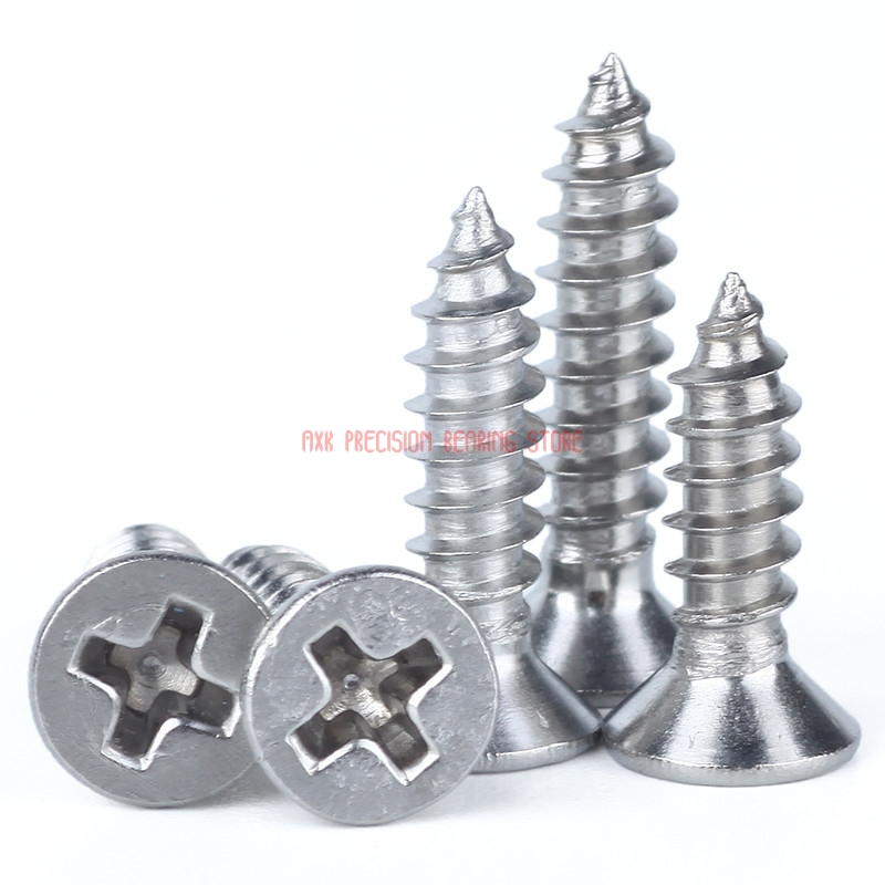 2019 New Parafuso 304 Grade M1.7 <font><b>M2x3</b></font>/3.5/4/5/6/7 Stainless Steel Countersunk Head Self-tapping <font><b>Screws</b></font> / Micro Flat Electronic image