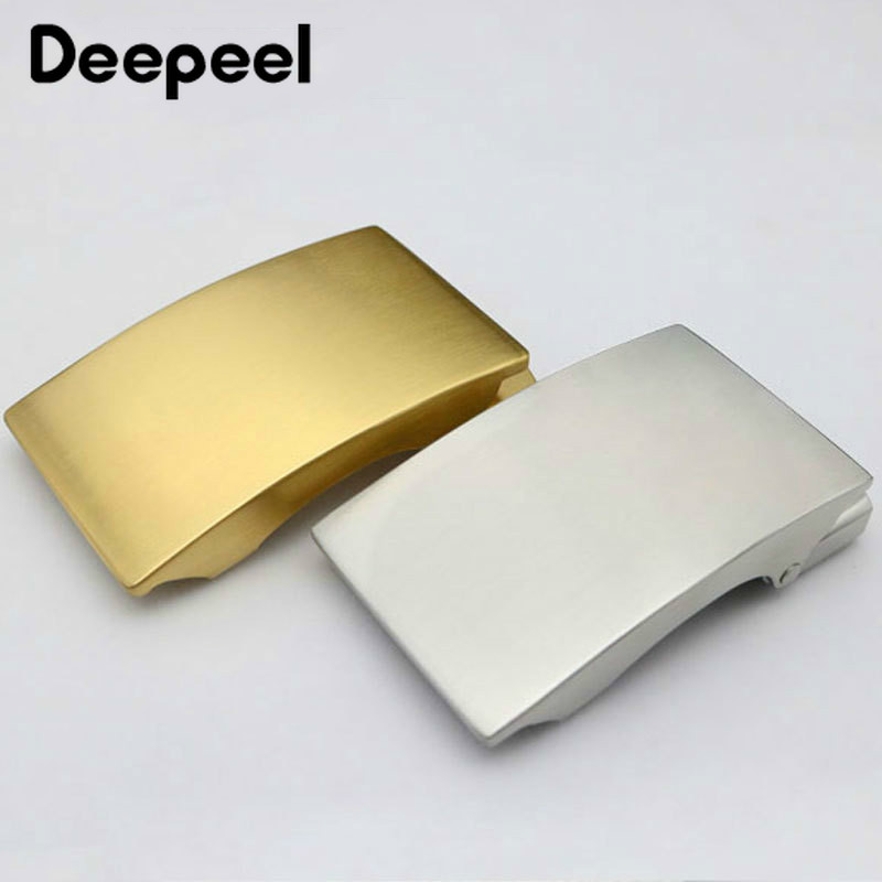 Deepeel 36mm Stainless Steel Men's Belt Buckle Without Teeth Automatic Buckle Head DIY Business Casual Leather Craft Accessories