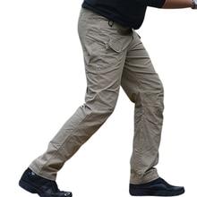Men's Pants Tactical Waterproof Wear-Resistant Pants with Pockets for Fishing Trekking Hik