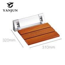 YANJUN Folding Bath Shower Seat  Wall Mounted Relaxation Shower Chair Solid Seat Spa Bench Saving SpaceBathroom  YJ-2040