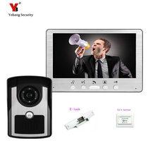 Buy online Yobang Security 7″ Video Door Phone  Video Monitoring Intercom Doorbell Night Vision Waterproof Outdoor Camera+Electric lock
