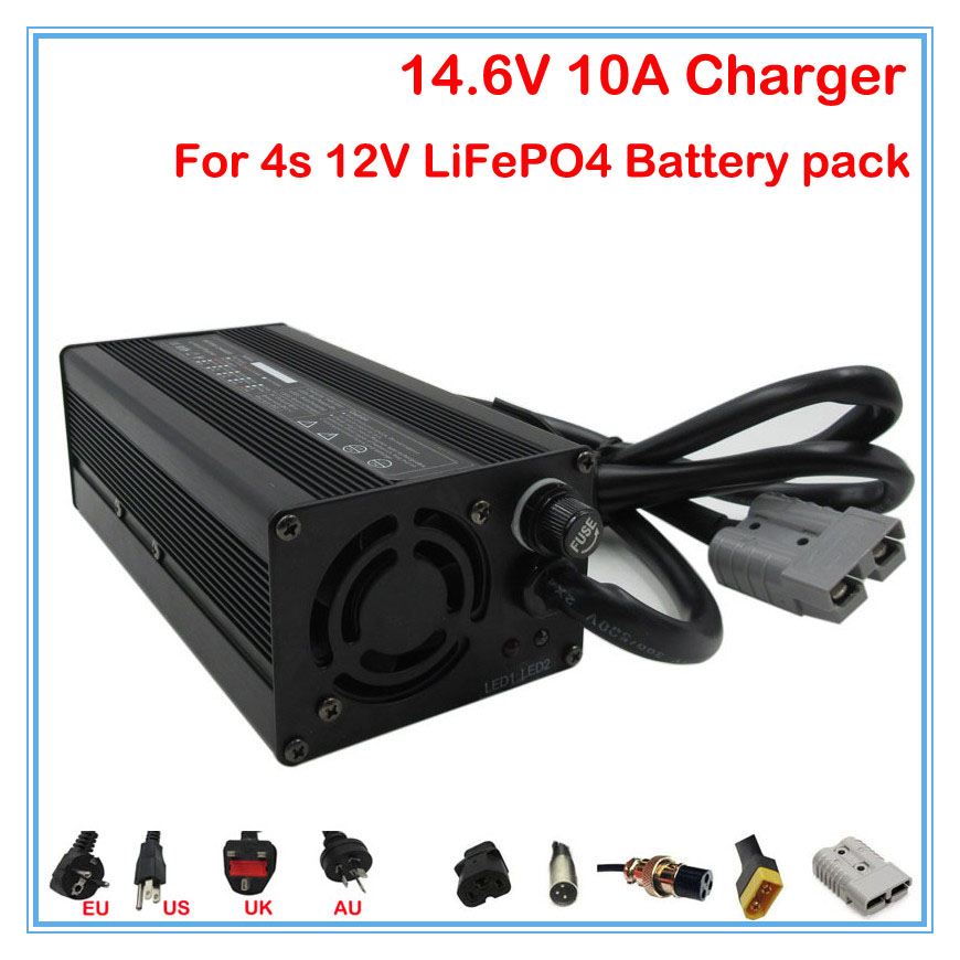 12V 10A LiFePO4 Battery Charger 14 6V 10A charger Use for 4S 12V 40A 50A 80A