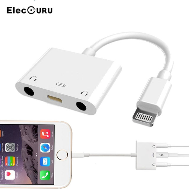 more photos 044d7 944ee US $9.99 30% OFF|3 in 1 Adapter For iPhone 7/7 Plus/8/8 Plus/iPhone X Dual  Lightning Female To 3.5mm Male Headphone Jack Adapter+Audio Converter on ...