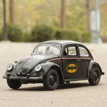 1:36 Toy Car Beetle Classic Alloy Diecast Car Model Toy Cartoon Vehicle Batman Toy Pull Back Car Toys For Children(China)