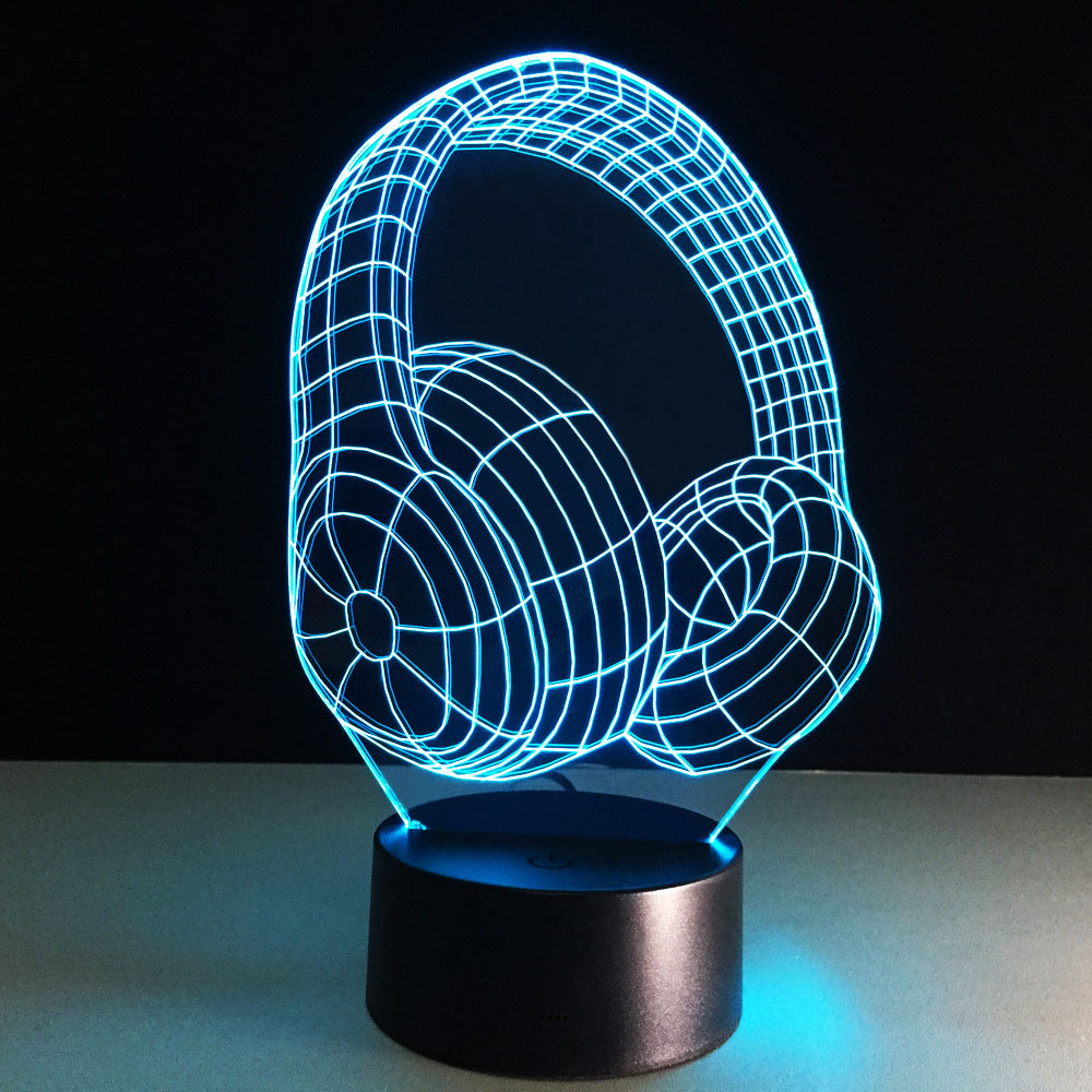 3d Nightlight Baby Led Lights Usb Table Lamp Acrylic Pane Desk Lampe  Veilleuse Dry Batteries Lamps  Table Bedroom Lighting