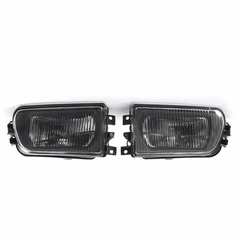 2 Pcs Left and Right Car Front Fog Lights Bumper Lamp Housing for BMW E39 5