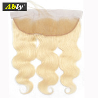 613 Lace Frontal Closure Pre Plucked Natural Hairline With Baby Hair Ably Chinese Remy Human Hair US 7 10 Days Free Shipping