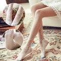 1 Par Meninas Lace Bow Lolita Kawaii cinta assentamento dot Meia-calça Meias Elevadas Da Coxa Collants meias Arco laço Atacado