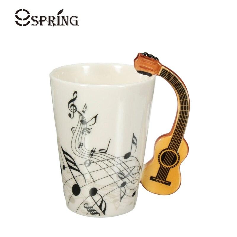 Novelty Guitar Mug Ceramic Coffee Mug Tea Cup Music Note