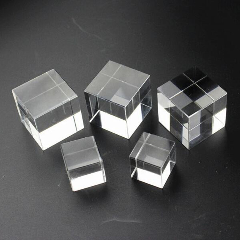 Image 2 - High Quality Transparent Clear Crystal Cube Paperweight DIY Glass Blank for Engraving-in Figurines & Miniatures from Home & Garden