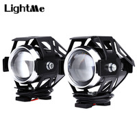 2pcs 10W 12V 3000LM U5 LED Transform Spotlight Motorcycle Headlight Aluminum Alloy Material High Brightness Easy
