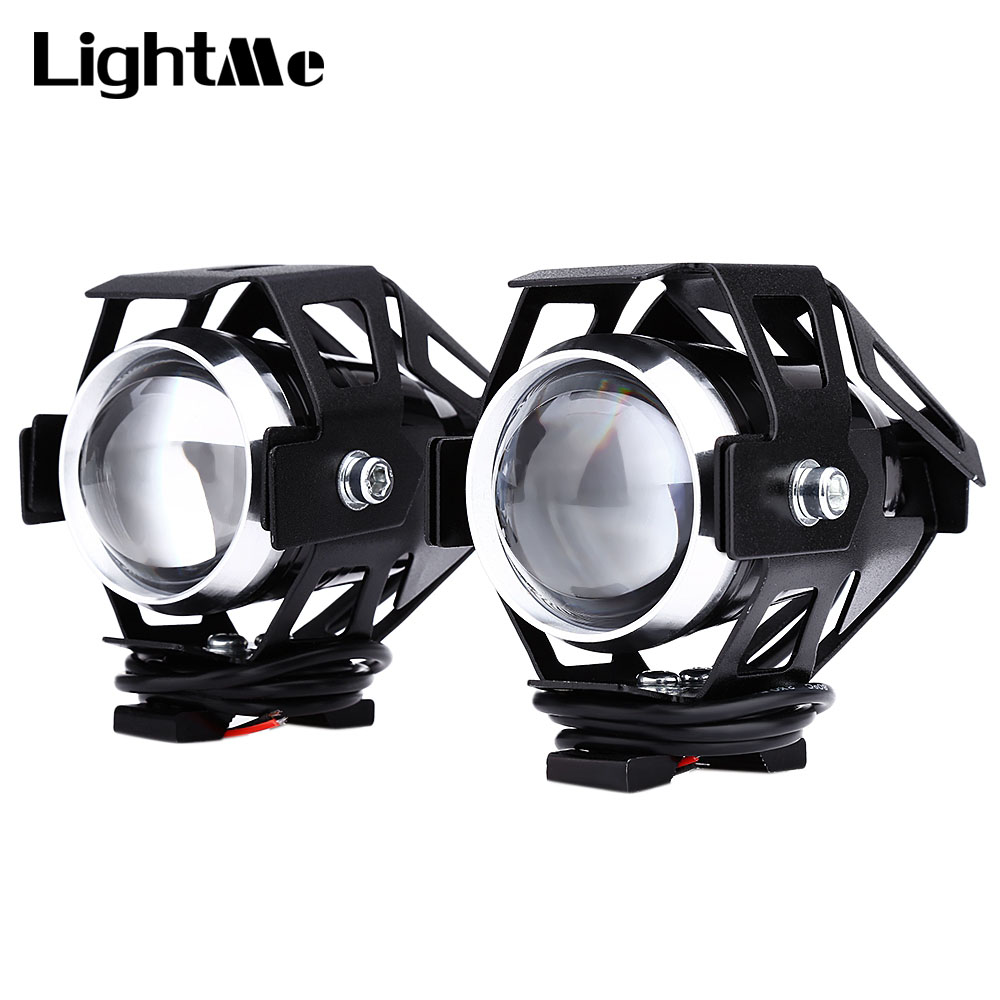 Lightme 2pcs 125W 12V 3000LM U5 LED Transform Spotlight Motorcycle Headlight Alloy Material High Brightness Easy to Install