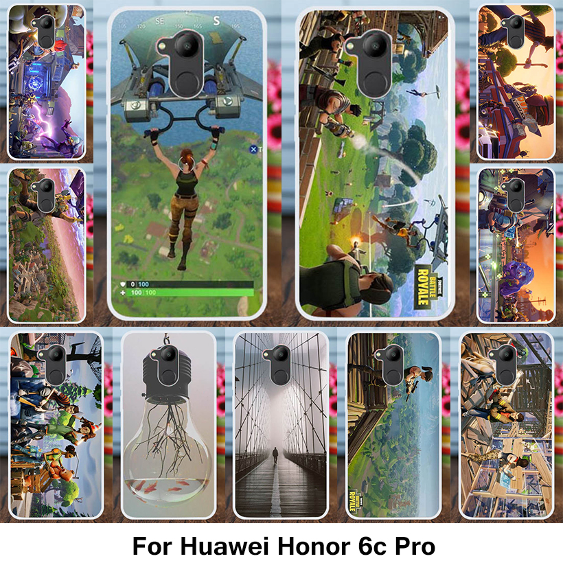 Kaynes For Silicon Case Huawei Honor 6C Pro Case Silicon DIY Game Patterned Anti-knock Cover For Huawei Honor V9 Play Cover