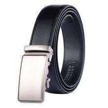New Brand Designer Mens Belts Luxury for Men Metal Black Automatic Buckle Jeans Genuine Leather Belt 3.5 width