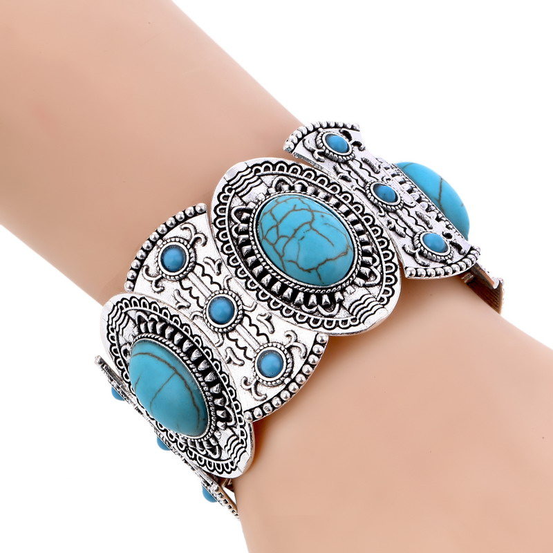 LOVBEAFAS New Fashion Boho Elastic Bracelets & Bangles For Women Ethnic Vintage Stretch Bohemian Femme Bracelets Party Jewelry