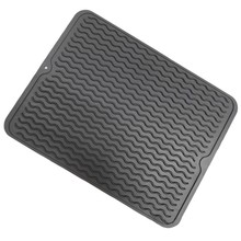 Promotion! Large Silicone Table Placemat Premium Heat Resistant Drying Mat Tableware Dishwasher Dish Cup Cushion Pad Dinnerwar(China)