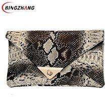 2f259cd0a82e 2019 вечерняя сумочка новые модные женские сумка из синтетической кожи  змеиной кожи конверт мешок ежедневные клатчи кошелек L7-3.