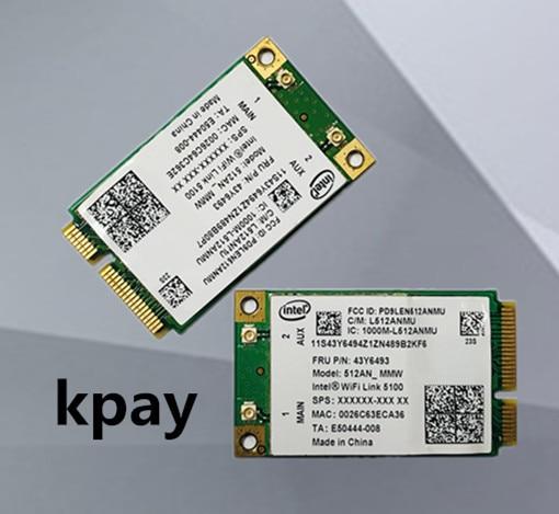 For IBM Lenovo Intel LINK 5100 512AN_MMW PCI E 802.11a/B/G/N 300Mbps Wireless WIFI Card Thinkpad X301 X200 W500 T400 T500 SL300