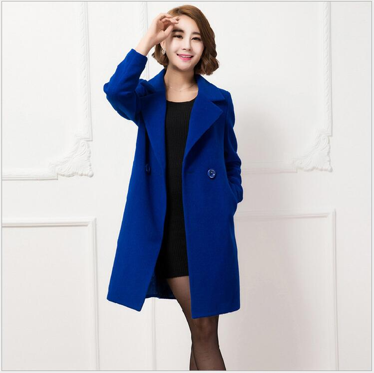 2017 Autumn And Winter New Cashmere Coat Long Woolen Jacket Women Cloth Long Sleeves Thickening Slim Coat Jaqueta Feminina HJ26