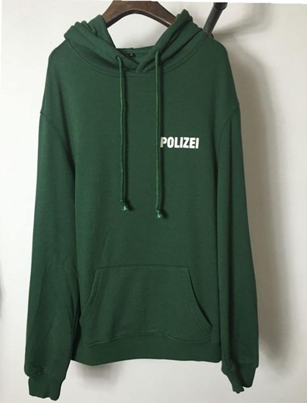 Payız şalvar böyük ölçülü Yaşıl Polizei məktubları olan - Kişi geyimi - Fotoqrafiya 3