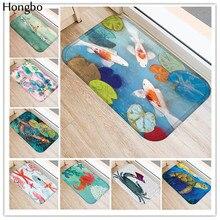 Hongbo New Anti-Slip Carpets Marine Life Print Mats Bathroom Floor Kitchen Rugs Non-Slip Floor Mats Area Rug for Living Room недорого