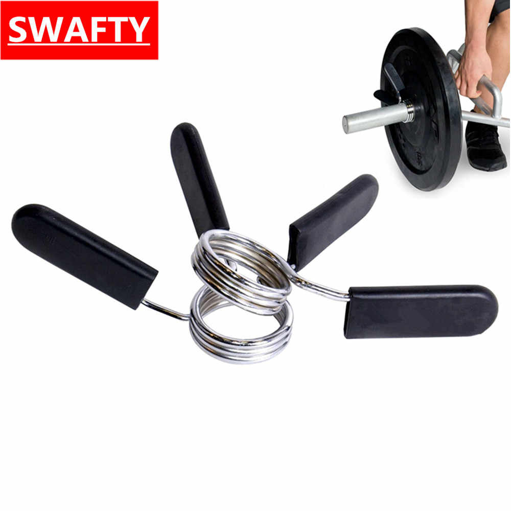1 pair 25mm Barbell Gym Weight Bar Dumbbell Lock Clamp Spring Collar Clips  indoor Body Building 49bb44238f1f