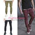 Мужские бегунов случайные брюки-карго мода мужчины Jogger Брюки мужчины hip hop армия городской одежды брюки зеленый, черный вина красные штаны