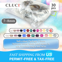 CLUCI 30pcs 7 8mm Akoya Oysters with Pearls Mix 13 Colors Single and Twins Pearls Oysters Surprising Party Akoya Pearl Oyster